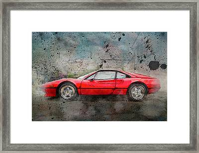 Framed Print featuring the photograph Ferrari 308 by Joel Witmeyer