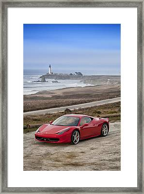 Framed Print featuring the photograph Ferrari 458 Italia by ItzKirb Photography