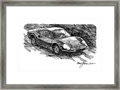 Ferrari Dino Framed Print by David Lloyd Glover