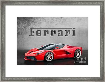 Ferrari La Ferrari Framed Print by Mohamed Elkhamisy