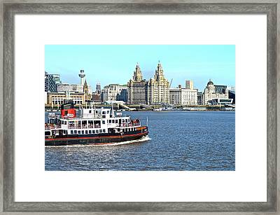 Ferry Across The Mersey Framed Print by Mr Snappy