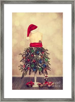 Festive Christmas Mannequin Framed Print by Amanda Elwell