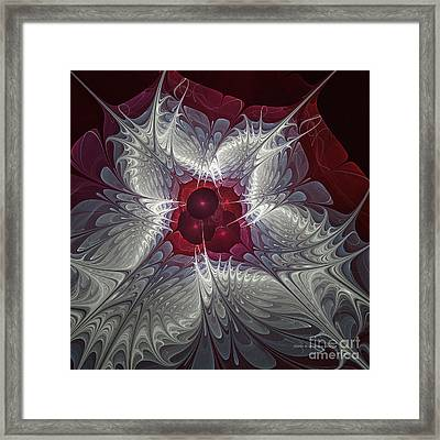 Framed Print featuring the digital art Festive Star by Karin Kuhlmann