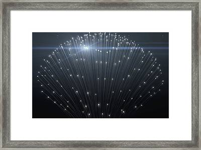 Fiber Optics Close Framed Print