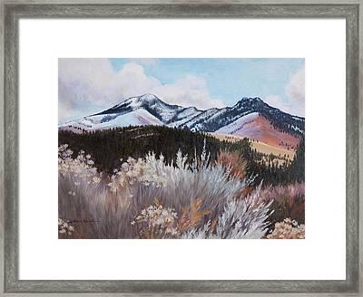 Fields Peak Framed Print