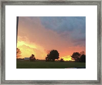 Fiery Sky Framed Print by Raven Moon