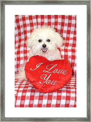 Fifi Loves You Framed Print by Michael Ledray