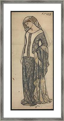 Figure Of Guinevere Framed Print by William Morris