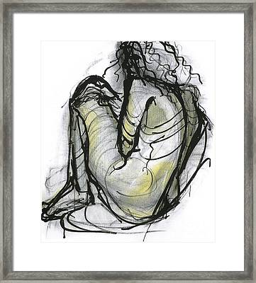 Figure Study Framed Print by Michelle Spiziri