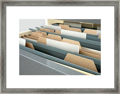 Filing Cabinet Drawer Open Generic Framed Print