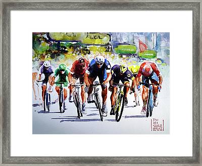 Final Effort Stage 4 Framed Print by Shirley Peters