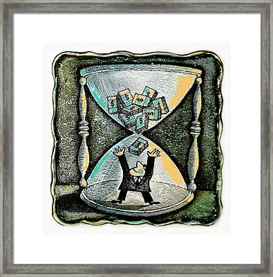 Financial Planning Framed Print by Leon Zernitsky