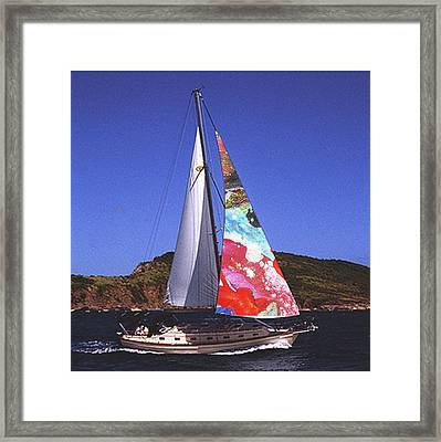 Fine Art Sails Framed Print by Dan Cope