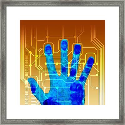 Fingerprint Scanner, Artwork Framed Print