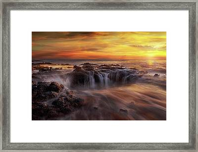 Fire And Water Framed Print by David Gn
