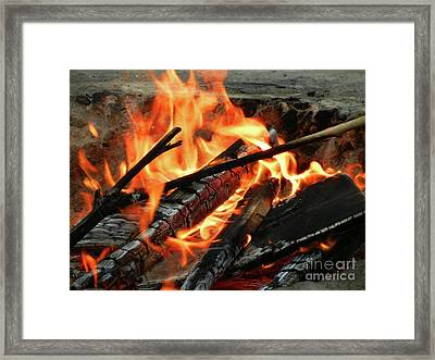 Fire At The Beach IIi Framed Print by Mariola Bitner
