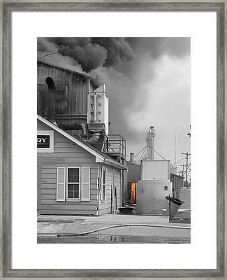 Fire Door Framed Print by Dylan Punke