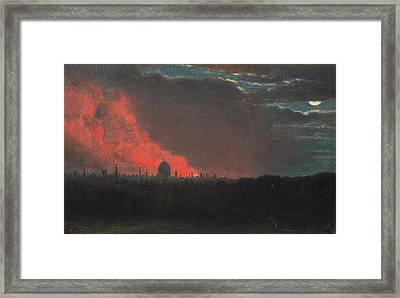 Fire In London, Seen From Hampstead Framed Print by John Constable