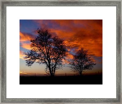Fire In The Sky Framed Print by Peter Piatt