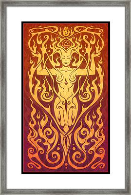 Fire Spirit Framed Print by Cristina McAllister