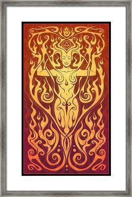 Fire Spirit Framed Print by Cristina McAllister