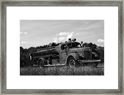 Fire Truck 2 Framed Print by Off The Beaten Path Photography - Andrew Alexander