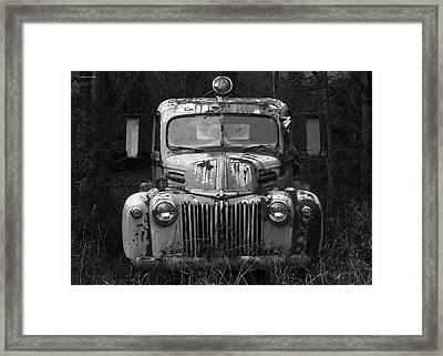 Fire Truck Framed Print by Ron Jones