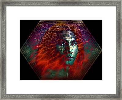 Framed Print featuring the digital art Fire Within by Shadowlea Is
