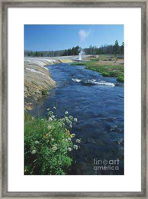 Firehole River Framed Print by Stan and Anne Foster