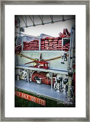 Fireman-keep Back 300 Feet Framed Print