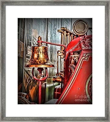 Fireman - The Fire Bell Framed Print by Paul Ward
