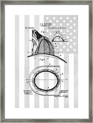 Fireman's Helmet Patent Framed Print by Dan Sproul
