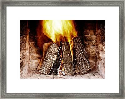 Fireplace Framed Print by Boyan Dimitrov