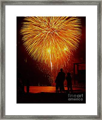 Fireworks Framed Print by Marc Bittan