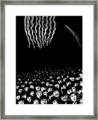 Fireworks, The World's Fair Vi, 1901 Framed Print by Felix Edouard Vallotton