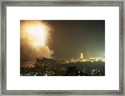 Fireworks - Ventura County Fair Framed Print by Soli Deo Gloria Wilderness And Wildlife Photography