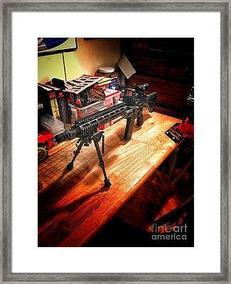 First Ar Build Framed Print
