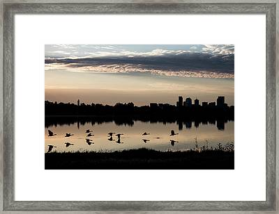 First Flight At Sunrise Framed Print