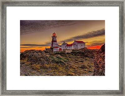 Awaiting Dawn At Head Harbor Lighthouse Framed Print by Lee Kappel