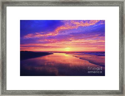 First Light At The Beach Framed Print