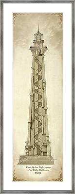 First Order Lighthouse For Cape Hatteras Framed Print