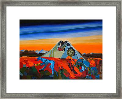 Fish Head Hill Framed Print by Michael C Crane