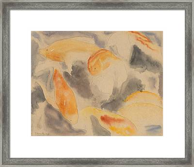 Fish Series, No. 4 Framed Print by Charles Demuth