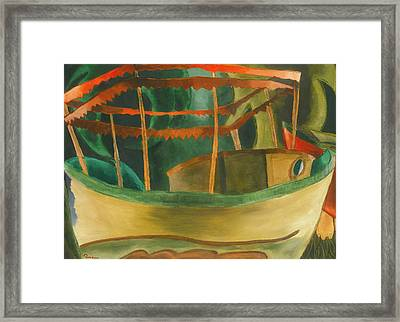 Fishboat Framed Print by Arthur Dove