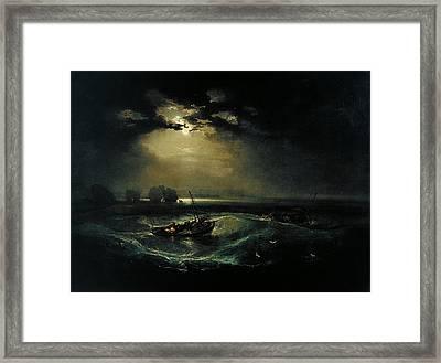Fishermen At Sea Framed Print by JMW Turner