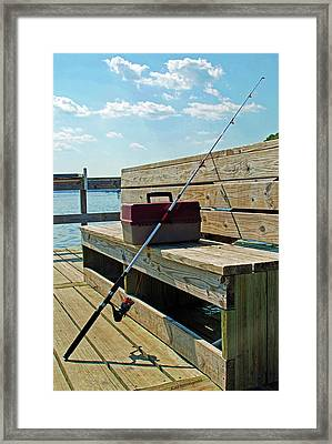 Fishin' Pole Framed Print