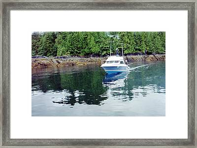Framed Print featuring the photograph Fishing Boat by Judyann Matthews