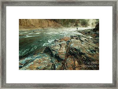 Framed Print featuring the photograph Fishing Day by Iris Greenwell