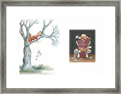Fishing For Love Framed Print by Denise M Cassano