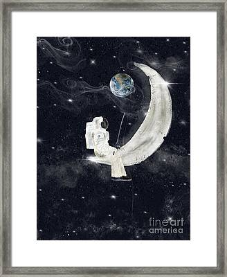 Framed Print featuring the painting Fishing For Stars by Bri B